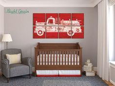 Image result for fire truck nursery