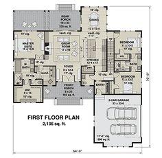 Best House Plans, Dream House Plans, House Floor Plans, Custom Home Plans, Home Design Plans, Modern Farmhouse Plans, Farmhouse Style, Craftsman Style House Plans, House Blueprints