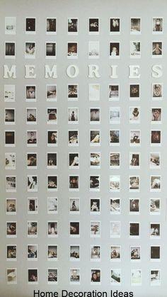 10 Stylish Instagram Gallery Wall Ideas, # Cute Room Ideas, Cute Room Decor, Diy Teen Room Decor, Room Wall Decor, Teen Bedroom Decorations, Room Decor Teenage Girl, Diy Room Ideas, Picture Room Decor, Cool Dorm Rooms