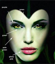 Maleficient makeup for Angelina Jolie