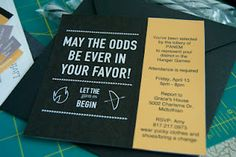 hunger games party invite