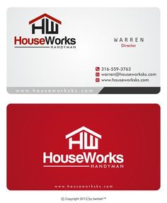 Handyman carpenter builder orange hammer logo ii business card create an awesome logo and business cards for a handymanremodel startup by fesyamedia reheart Image collections
