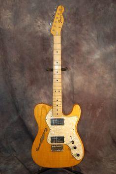 1972 Fender Tele Thinline. All original with Fender Wide Range Humbuckers. Call Lawman Guitars 515-864-6136