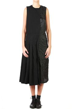 COMME DES GARÇONS - Two Fabrics Pleated Dress :: Ivo Milan