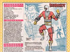 Deadshot Who's Who Comic Book Covers, Comic Books Art, Book Art, Floyd Lawton, Character Bio, Character Concept, Marvel And Dc Characters, Alternative Comics, Deadshot