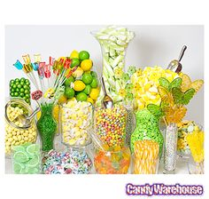 We're ready for springtime! We had a great time building this spring candy buffet. Bulk Candy, Candy Shop, Hard Candy, Candy Table, Candy Buffet, White Candy Bars, Candy Stand, Sweet Buffet, Online Candy Store