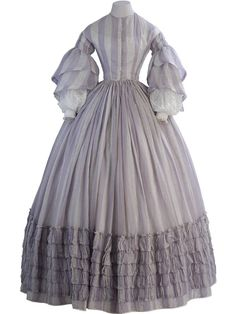 http://cnatrainingclass.co CNA Training Class  Day dress,1858-60  Museo de la Moda 19th-century