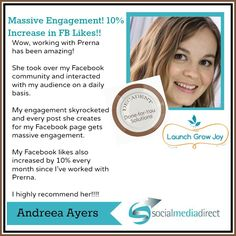 Andreea Ayers experienced MASSIVE engagement AND an increase in fans, all organically!!