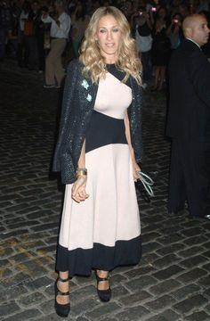 Sarah Jessica Parker in a tea length dress