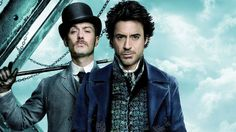 """The mysterious action-adventure, """"Sherlock Holmes"""" staged by the renowned filmmaker Guy Ritchie for Warner Bros.Detective Sherlock Holmes and his stalwart partner Watson engage in a battle of wits and. Sherlock Holmes Robert Downey, Sherlock Holmes 3, Susan Downey, Robert Downey Jr., Jude Law, Sherlock Holmes Wallpaper, Hollywood, Steampunk Wedding Cake, Steampunk Movies"""