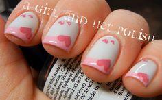 Valentine+Nail+Art   Valentine nail art