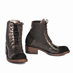 Get the must-have boots of this season! These Old Gringo Black Leather Cowboy Embroidered Lace New Boots/Booties Size US 8 Regular (M, B) are a top 10 member favorite on Tradesy. Ankle Shoes, Ankle Booties, Bootie Boots, Lace Up Boots, Black Boots, Old Gringo, Old Shoes, Shoe Boutique, Combat Boots