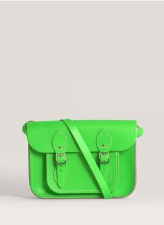 Cambridge Satchel - 11-inch leather satchel | Blue and Green Day Shoulder Bags | Womenswear | Lane Crawford - Shop Designer Brands Online