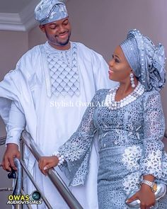 Yoruba Traditional Wedding Attire Styles [Updated May Yoruba Traditional Wedding Attire 2018 Couples African Outfits, African Lace Dresses, African Clothing For Men, African Fashion Dresses, Nigerian Wedding Dresses Traditional, Traditional Wedding Attire, Traditional Weddings, African Inspired Fashion, African Print Fashion