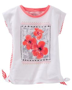 Baby Girl Embellished Side-Tie Tee from OshKosh B'gosh. Shop clothing &…