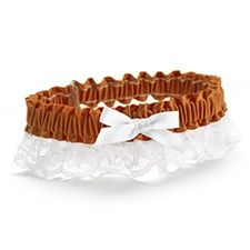 Ribbon and Lace Garter - Spice $7.40