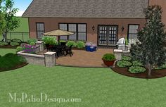 , this Creative and Simple Patio Design with Seat Wall is a great way to start enjoying your backyard. Landscaping Ideas, Backyard Landscaping, Patio Ideas, Outdoor Ideas, Backyard Ideas, Outdoor Decor, Garden Ideas, Outdoor Spaces, Outdoor Living