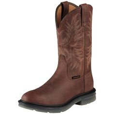 Ariat® Men's Workhog Pull On Work Boots.   #ariat #mens #workhog #pullon #westernboots #westernbootsales #pungoridge #workboots #cowboyboots