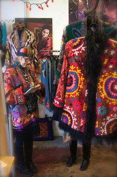 Suzi Click and her jackets at our Handmade in Hollywood event.