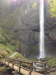 Latourell Falls on the Columbia River Gorge in Oregon   #waterfall #oregon #columbiarivergorge