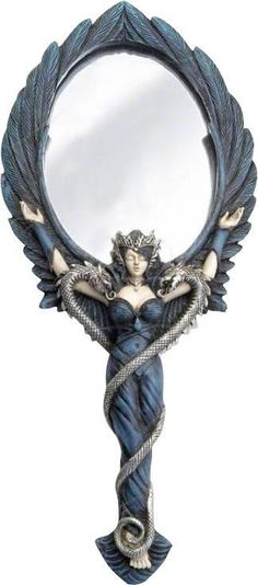 Alchemy Gothic - Black Angel Hand Mirror
