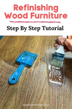 Refinishing wood furniture doesn't have to be hard. The best part of it all is the beautiful DIY Gel stain wood finish that you get to brag about. Stripping Wood Furniture, Furniture Repair, Diy Furniture Projects, Solid Wood Furniture, Furniture Makeover, Refurbished Furniture, Repurposed Furniture, Furniture Painting Techniques, Painting Furniture