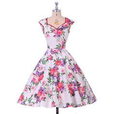 Grace Karin Vestidos De Verano Floral Print Summer Dresses Women Vestido Vintage Retro 50s Rockabilly Dress 007600 - Brides & Bridesmaids - Wedding, Bridal, Prom, Formal Gown