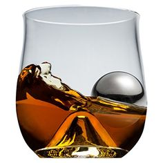 Brilliant ROX and Roll Whisky Glass with Stainless Steel Ice Ball Set, Size: One size, Clear Fireball Drinks, Whiskey Cocktails, Bourbon Glasses, Whiskey And You, Whiskey Sour, Whiskey Decanter, Old Fashioned Glass, Liqueur, Stainless Steel