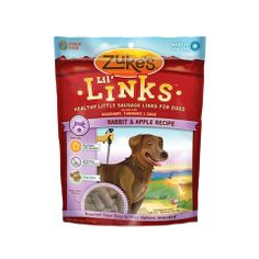 Every good dog deserves a yummy & nutritious treat, right? Lil' Links are grain-free, semi-moist links filled with healthy goodness such as real rabbit, apples, and antioxidant-rich herbs - and never any artificial colors or flavors. Even the pickiest of pups will beg for more of these tasty treats!  Made in the USA.