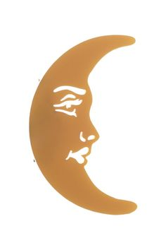 La Luna Moon Brooch - Gold Lasso The Moon, Luna Moon, Tatty Devine, Stars And Moon, Symbols, Brooch, Sky, Gold, Archive