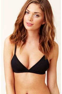 One Teaspoon Onyx Bra black sexy simple chic