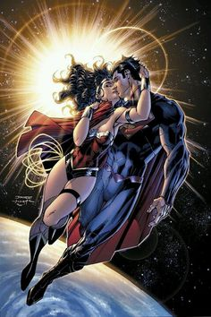 Superman & Wonder Woman by Jim Lee