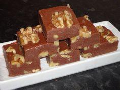 Chocolate walnut blocks