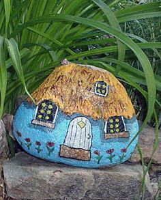 how to paint rocks for garden - Google Search