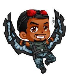 Chibi Sam by on DeviantArt Avengers Cartoon, Marvel Cartoons, Marvel Films, Marvel Art, Marvel Memes, Marvel Dc Comics, Marvel Characters, Marvel Cinematic, Marvel Avengers