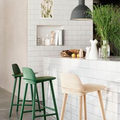 Brick Style Tiles | Kitchen Ideas. For more decorating ideas visit Redonline.co.uk