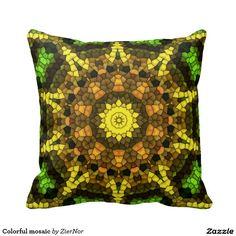 Colorful mosaic pillows
