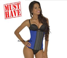 Faja Colombiana Ann Michel 2027D Full 3 hooks latex Vest Waist Trainer Support
