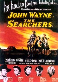 The Searchers is a 1956 American Western film directed by John Ford, based on the 1954 novel by Alan Le May, and set during the Texas–Indian Wars. The film stars John Wayne as a middle-aged Civil War veteran who spends years looking for his abducted niece (Natalie Wood), accompanied by his adoptive nephew (Jeffrey Hunter).    The film was a commercial success, although it received no major Academy Award nominations.