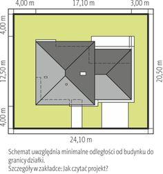 Usytuowanie na działce Bar Chart, House Plans, How To Plan, Design, Bar Graphs, House Floor Plans, Home Plans