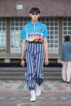 A look from Kenzo's joint men's and women's Spring 2018 collection. Photo: Kenzo