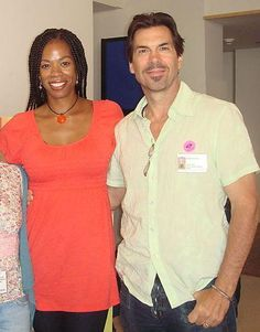 "Kim Wayans and husband Kevin Knotts.  The married couple are also authors of ""Amy Hodgepodge"" – a fictional child book character of mixed ancestry."