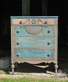 Rustic Chic Antique Chest of Drawers Dresser by ProdigalPieces