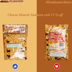 #Needsyourchoice Choose your Favorite Manish #Namkees with 15 % off on #NeedsTheSupermarket  online #supermarket buy here