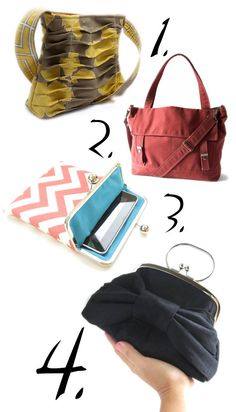 Handmade Purses and Bags for Fall, red one really cute
