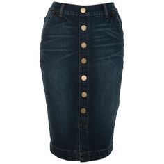 A|Wear Stretch Button Pencil skirt ($48) ❤ liked on Polyvore