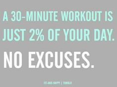30 minutes. 3 times a week. No excuses. Who's with us?