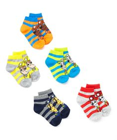 Look at this Yellow & Blue PAW Patrol Stripe Shorty Socks Set - Toddler on #zulily today!