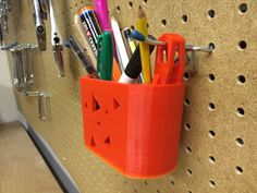 """I needed a pencil holder for my standard sized, 1"""", peg board. This is 5"""" hole to hole spacing."""
