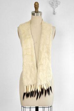 Gorgeous 1920's Ermine Fur Stole Scarf Wrap by BombyxVintage
